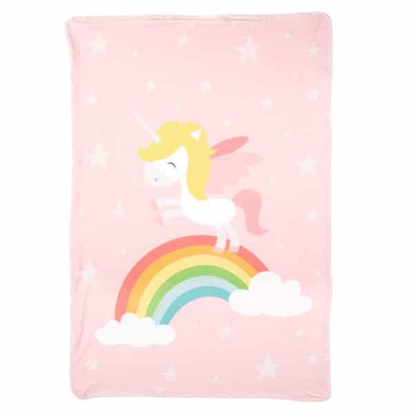 Manta Personalizada Unicornio con el Nombre para bebés