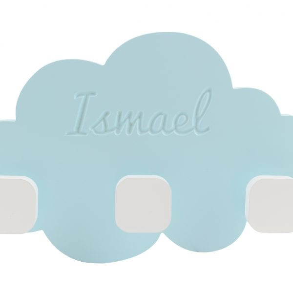 perchero nube personalizado de madera