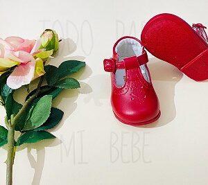 Zapatitos Rojos Niña con suela estilo merceditas