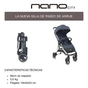Nano City Arrue 60 cm respaldo 3 colores
