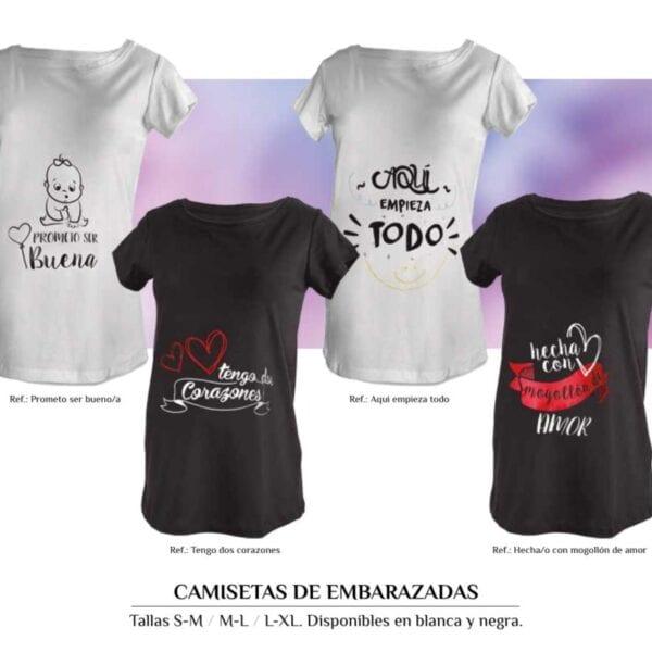 Camisetas para embarazadas personalizadas
