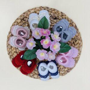 patucos de lana encaje