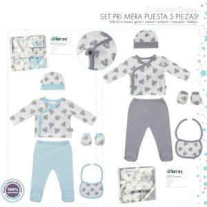 pack de nacimiento 5 pzas Disney Celeste