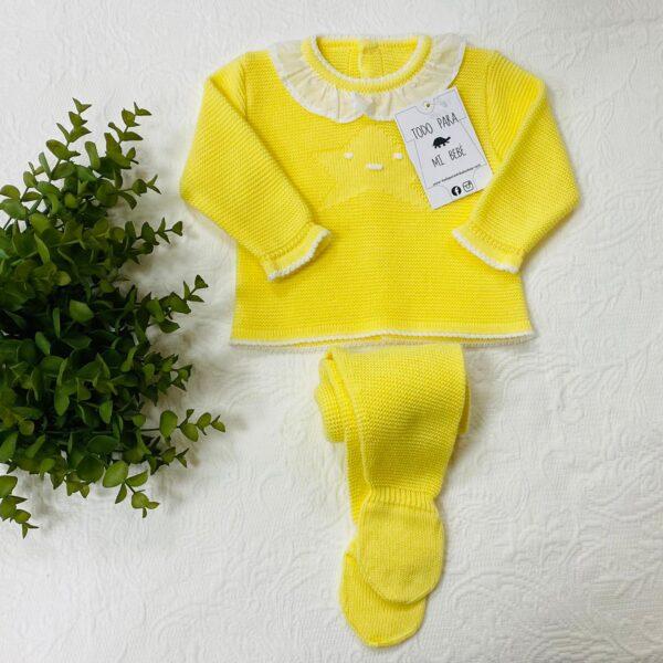 Conjunto amarillo Estrella cuello 2 piezas