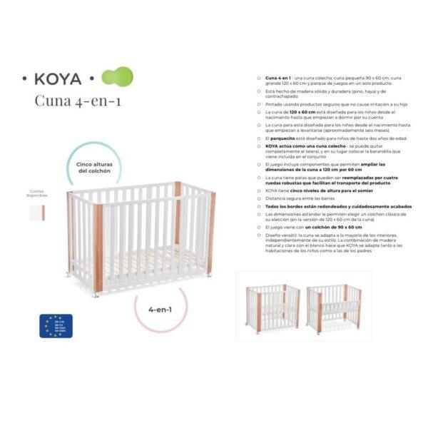 Koya minicuna cuna parque 4 en 1 NOVEDAD