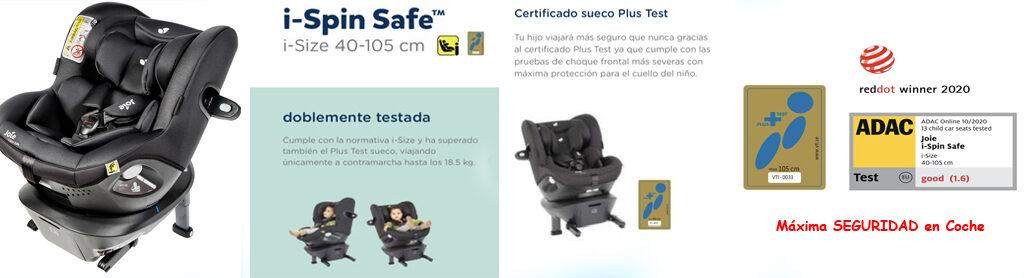 i Spin Safe plus test sueco silla a contramarcha doble seguridad
